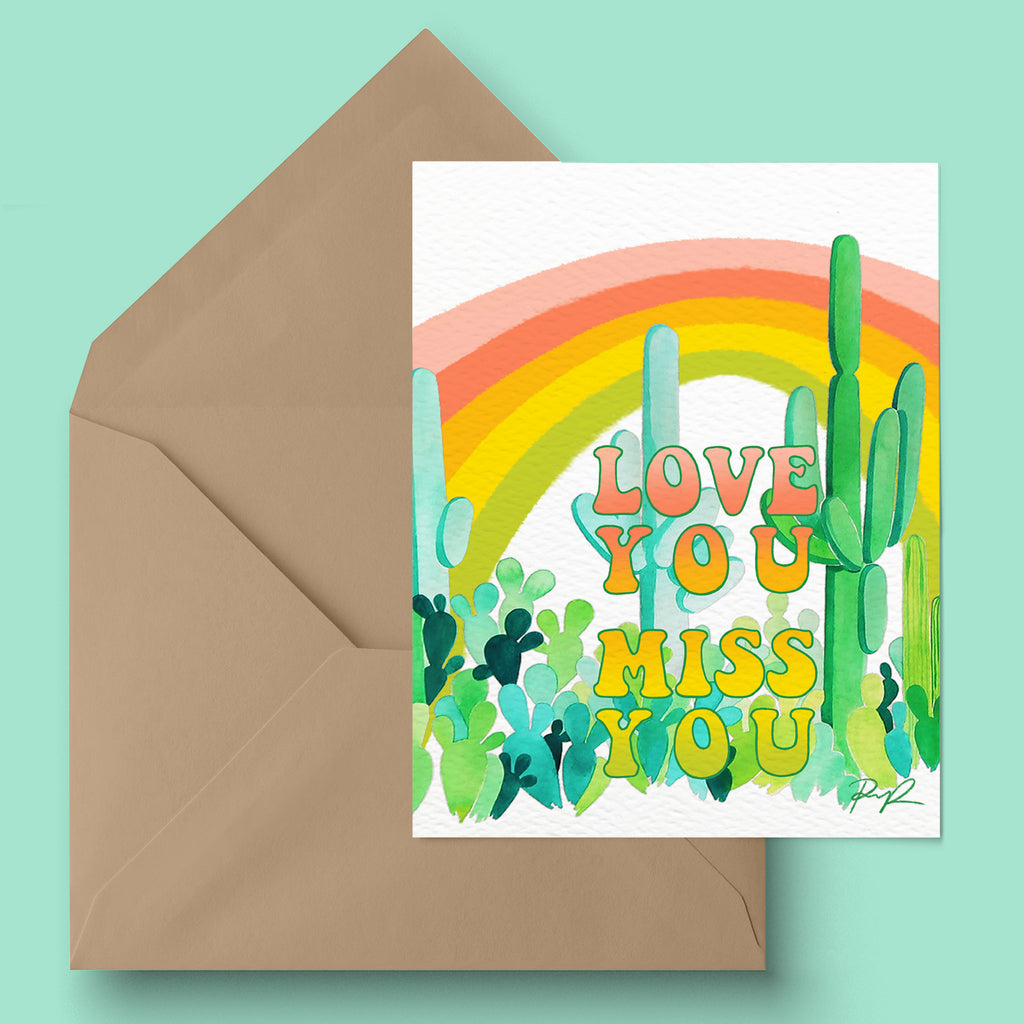 """Love You, Miss You"" Greeting Card"