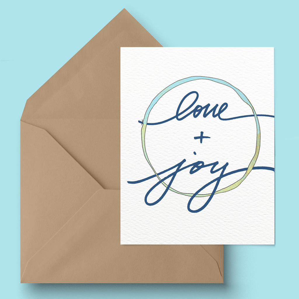 """Love and Joy"" Greeting Card"