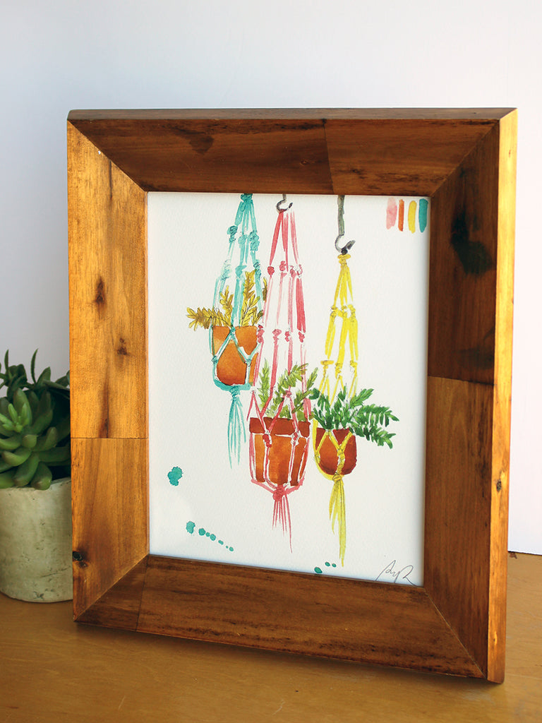 """Magical Macrame"" Watercolor Print"