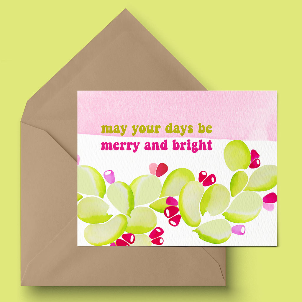 """Merry and Bright"" Holiday Card"