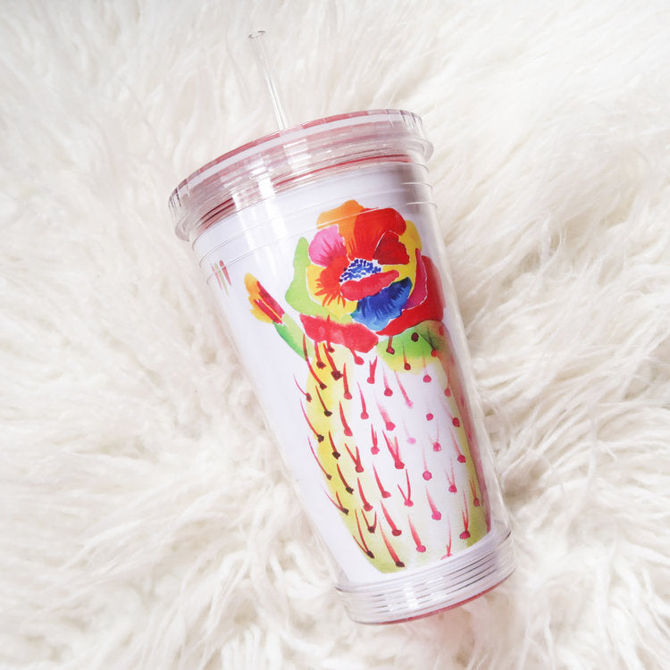 """Rainbow Bloom"" Beverage Tumbler"