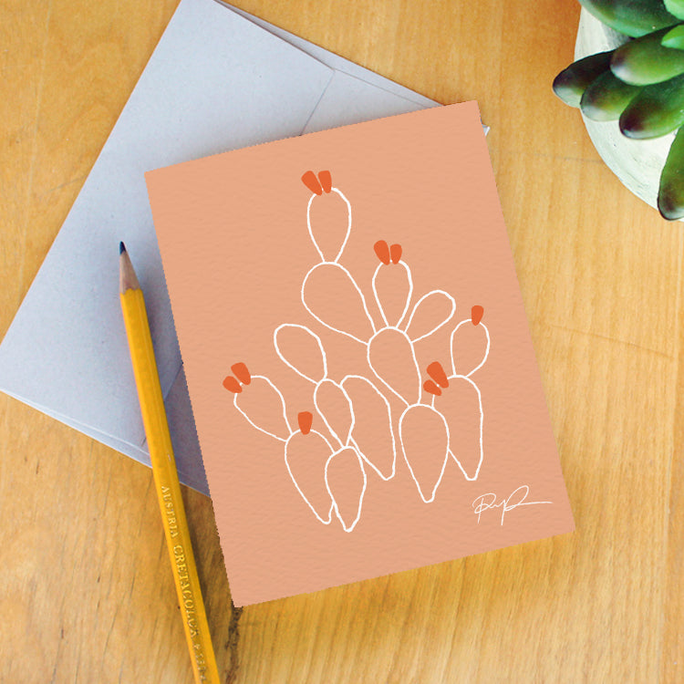 """Opuntia"" Greeting Card"