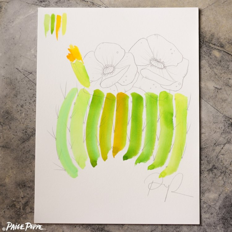 """Cactus Crescendo"" Original Watercolor"