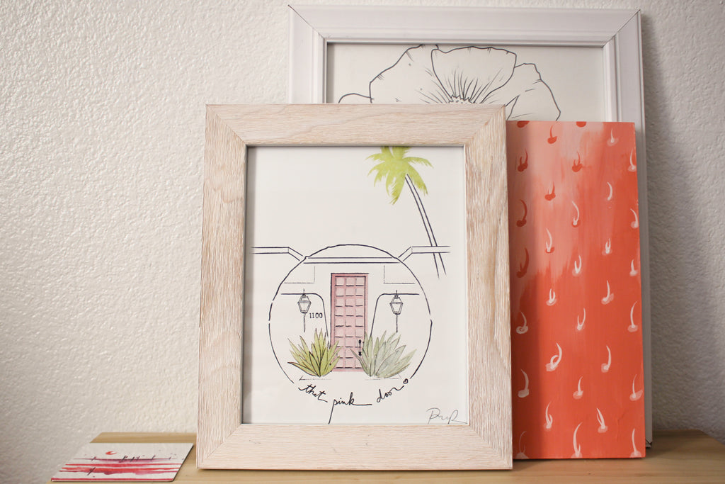 """That Pink Door"" Watercolor Print"