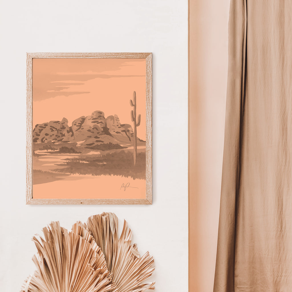 """Papago in Peach"" Art Print"