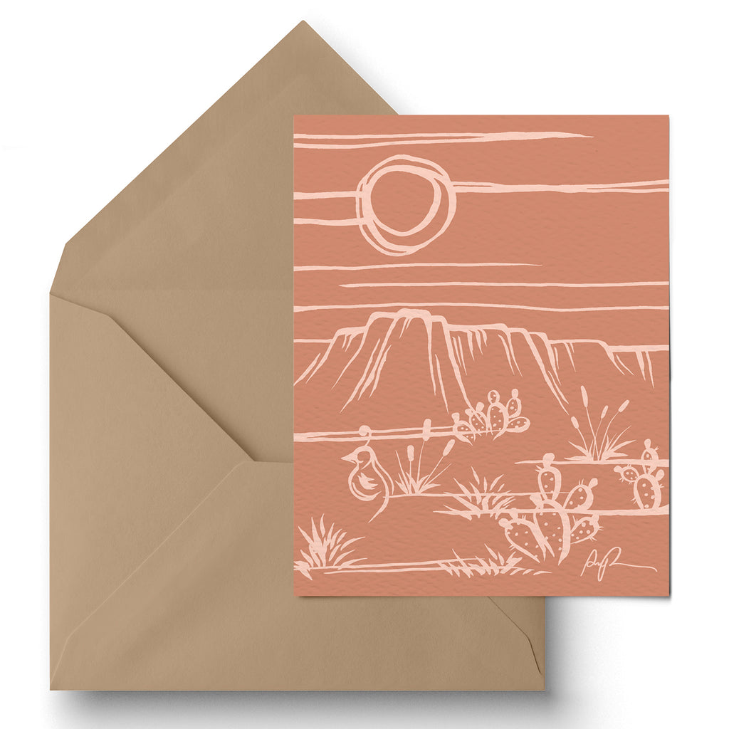 """Peach Sonora"" Greeting Card"