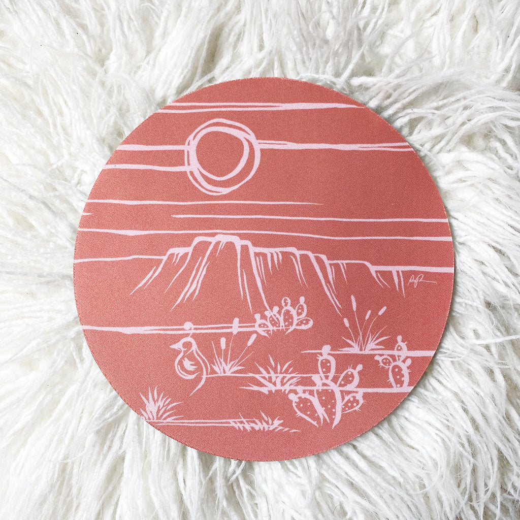 "'Peach Sonora"" Mousepad"