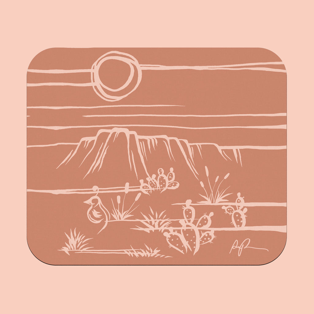"""Peach Sonora"" Rectangular Mousepad"