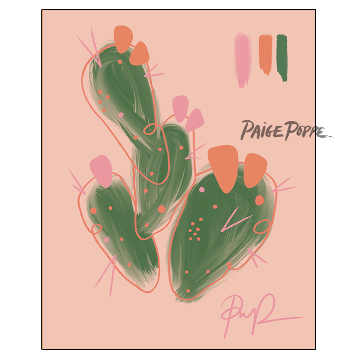 """Peachy Prickly"" Art Print"