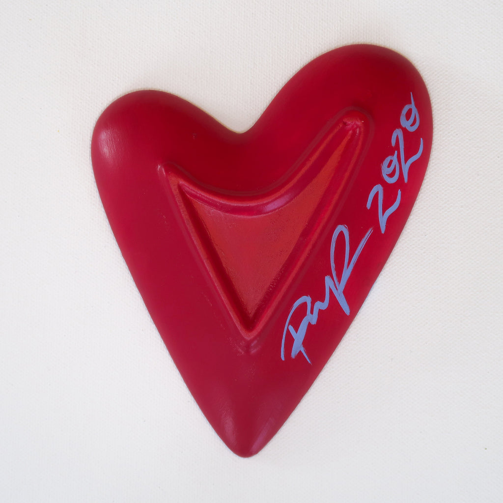"""Loving You"" Handpainted Ceramic Heart Dish"