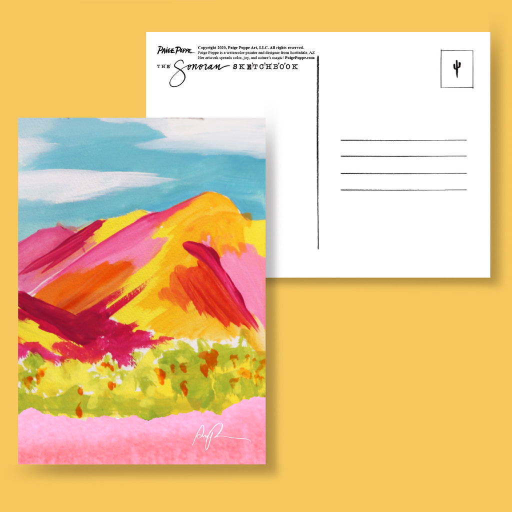 """The Sonoran Sketchbook"" 2021 Wall Calendar & 12 Postcard Pack"