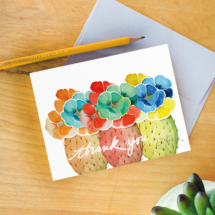 """Prickly Prism"" Thank You Card"