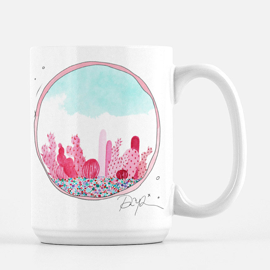 """Prickly in Pink"" Ceramic Mug"