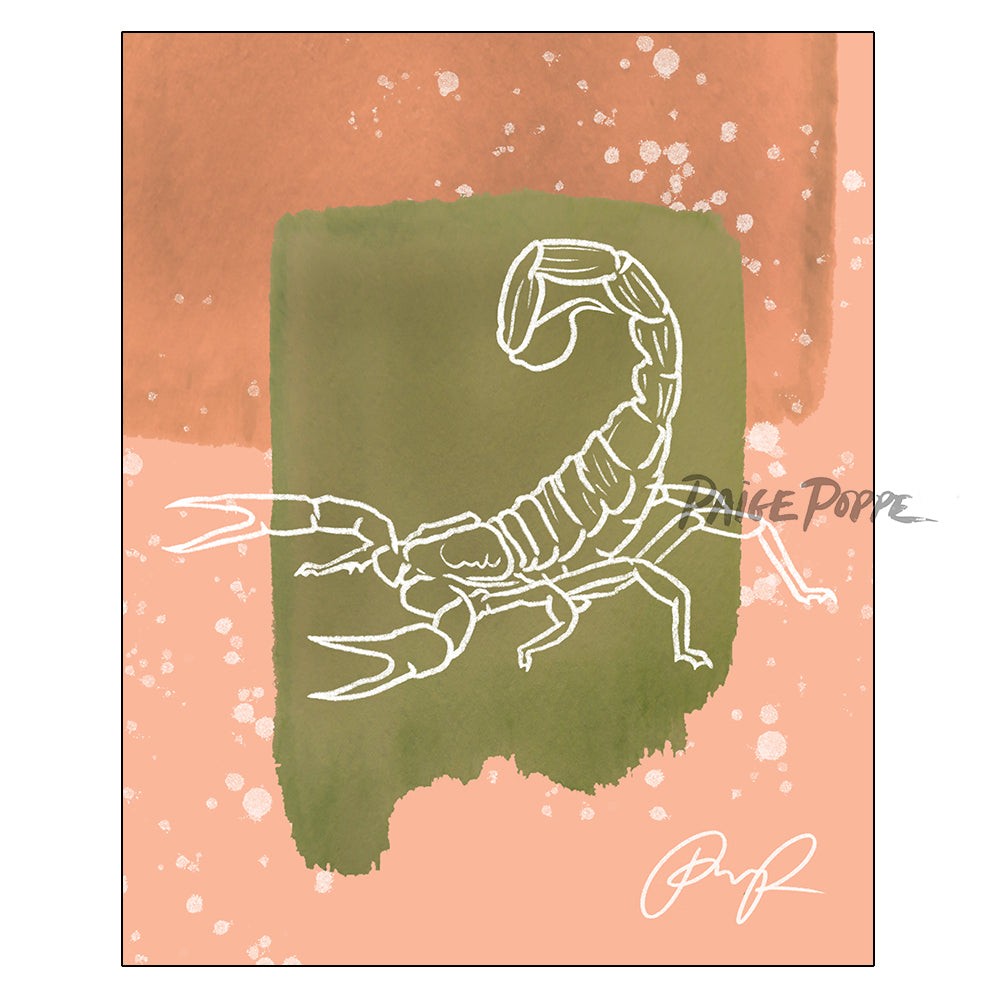 """Scorpion of Sand"" Art Print"