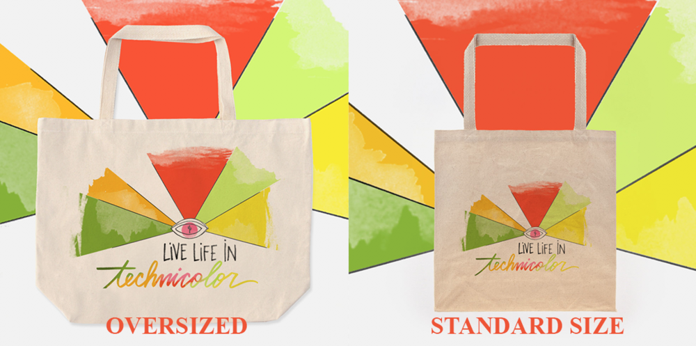 """Live Life in Technicolor"" Tote Bag"