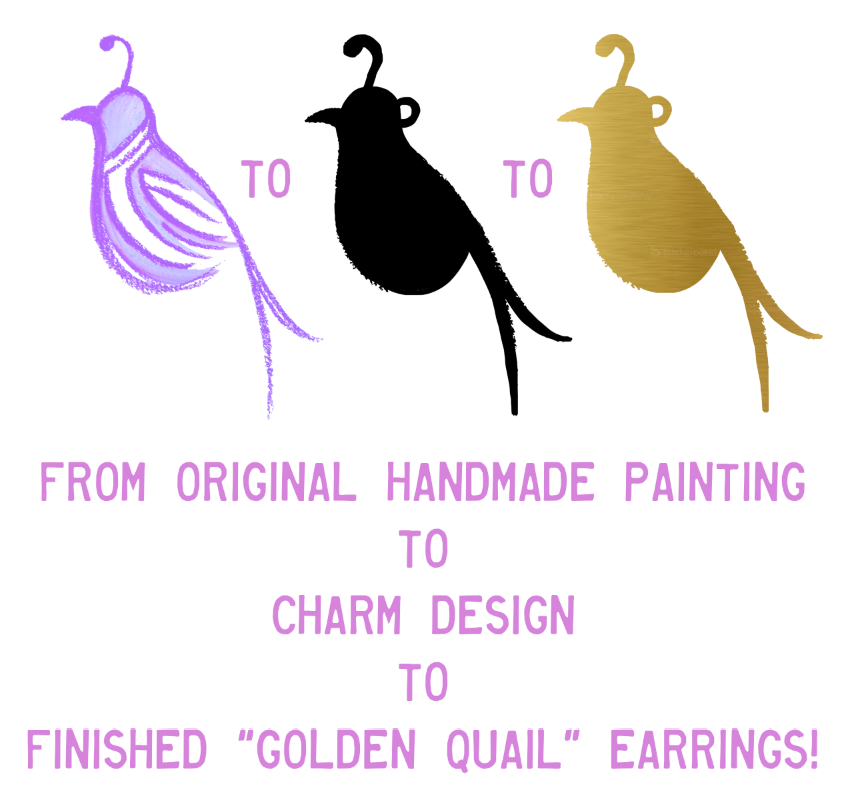 """Golden Quail"" Earrings"