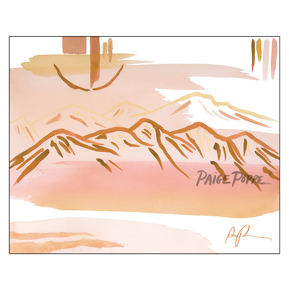 """Serene Desert at Dawn"" Art Print"