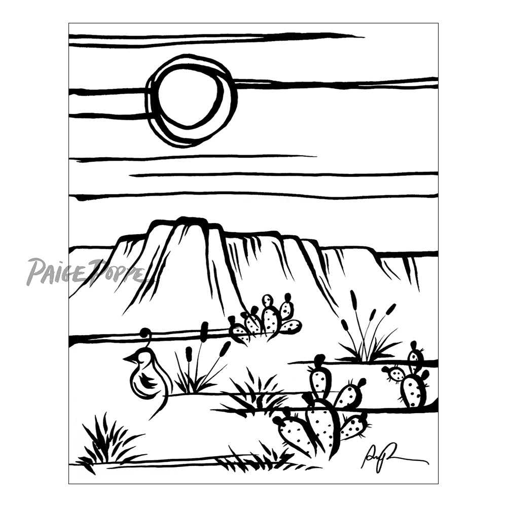 """Simply Sonoran"" Art Print"