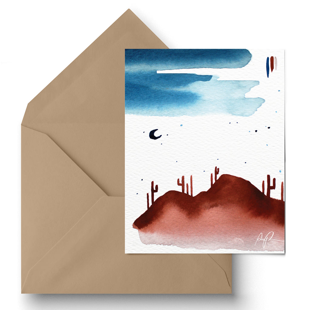 """Sonoran Twilight' Greeting Card"