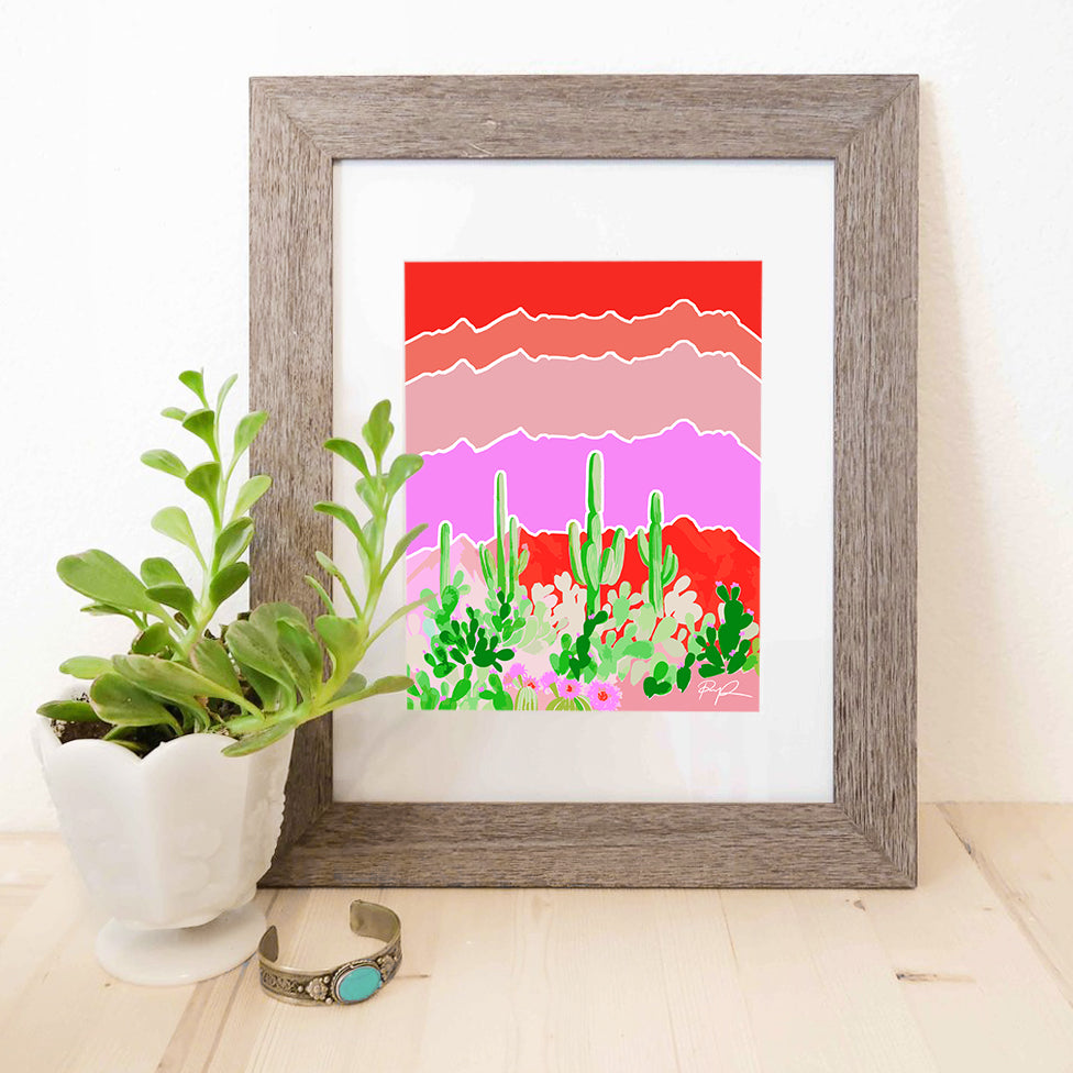 """Sonoran Jungle"" Watercolor Print"