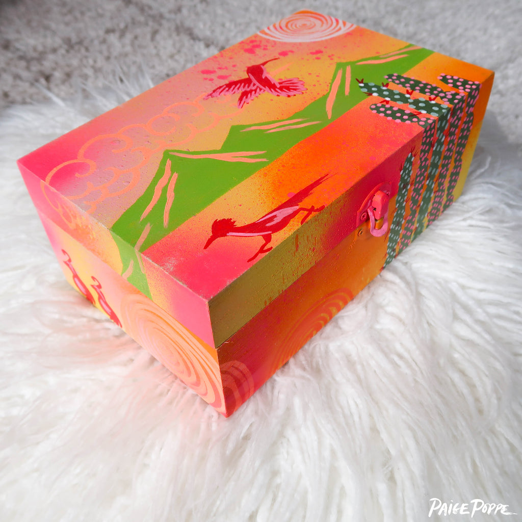 """Mystic Desert"" Original Hand Painted Wooden Box"