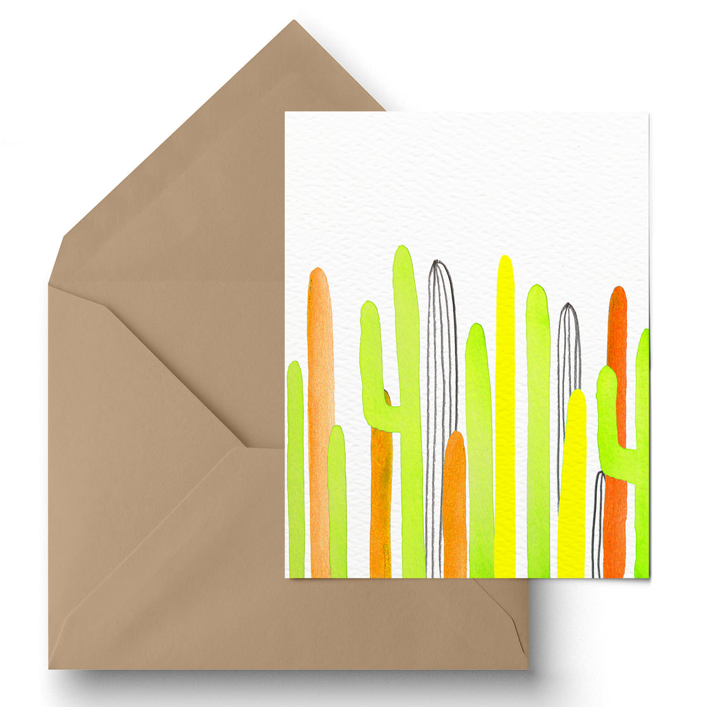 """Spring Saguaros"" Greeting Card"