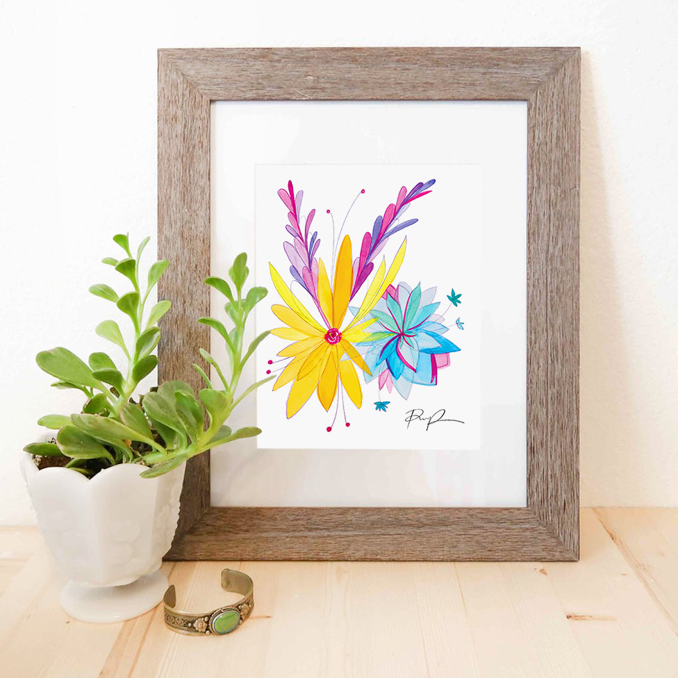 """Spring Blooms"" Watercolor Print"