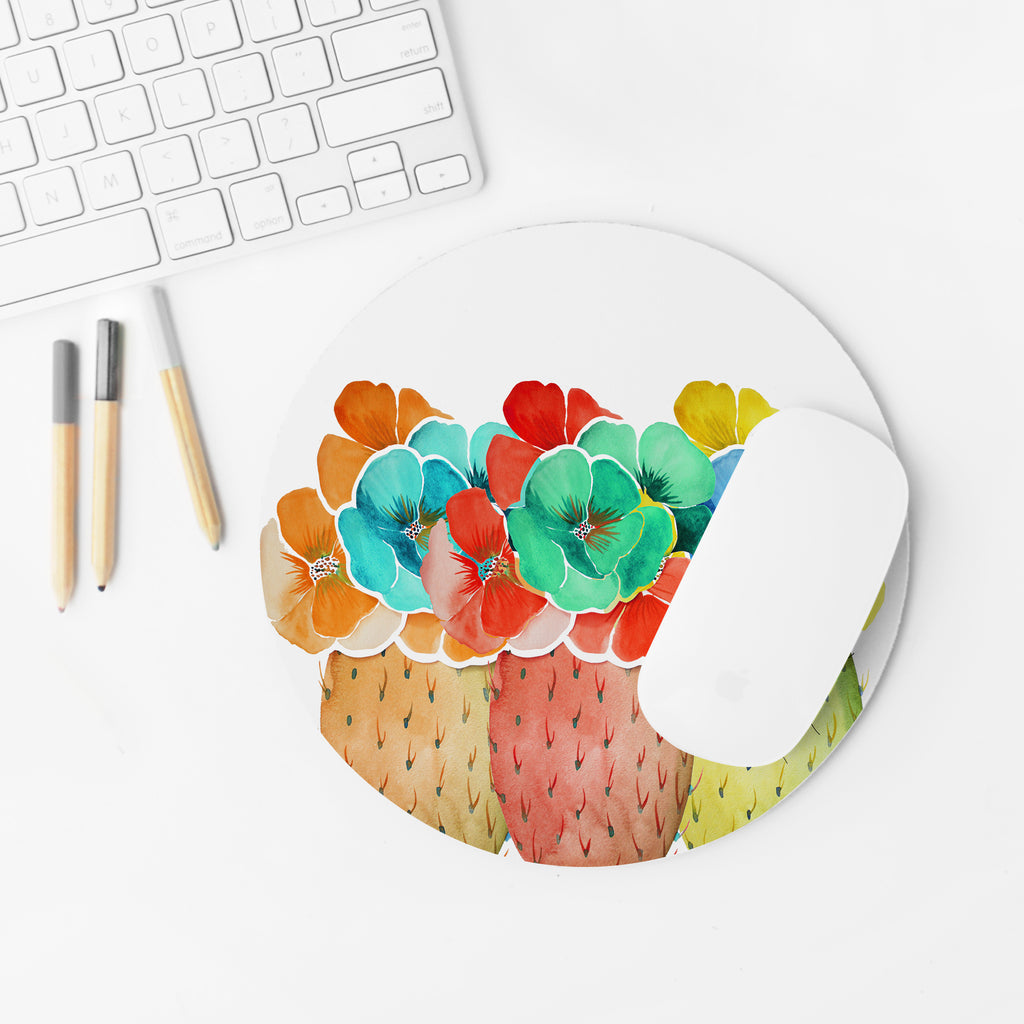 """Prickly Prism"" Round Mousepad"
