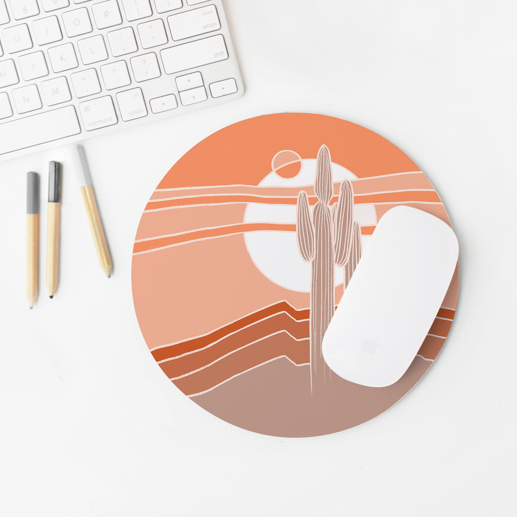 """Saguaros Eclipse"" Mousepad"