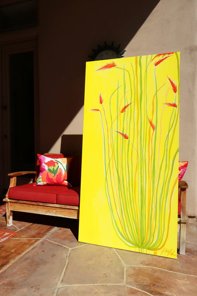 """Sunrise Ocotillo"" Original Abstract Painting"