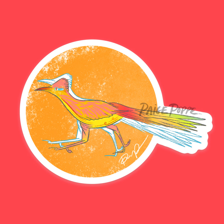 """Sunset Roadrunner"" Sticker"