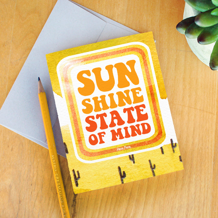"""Sunshine State of Mind"" Greeting Card"