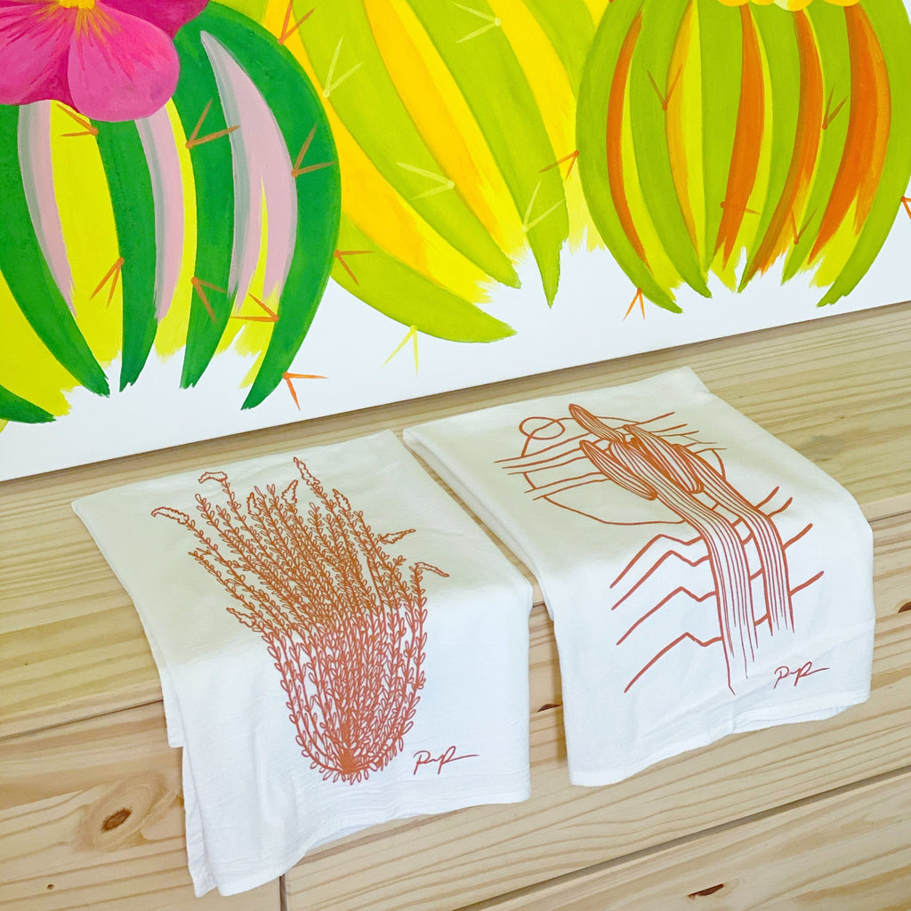 "3 LEFT! ""Ocotillo Rising"" Tea Towel"