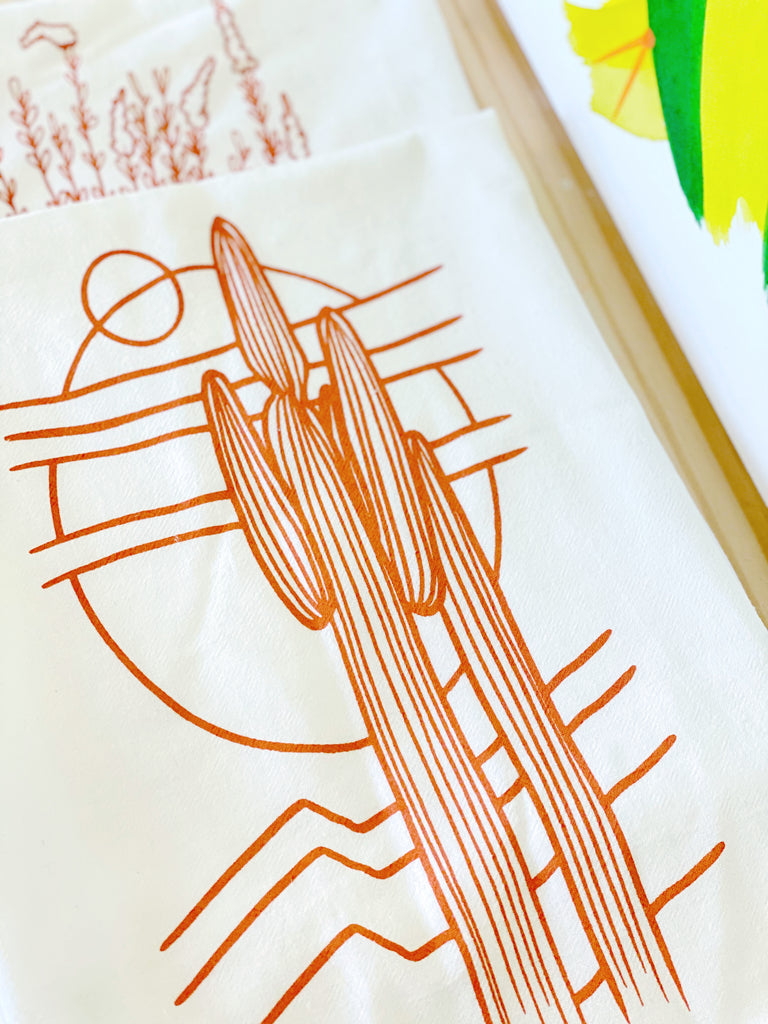 "2 LEFT! ""Saguaros Eclipse"" Tea Towel"