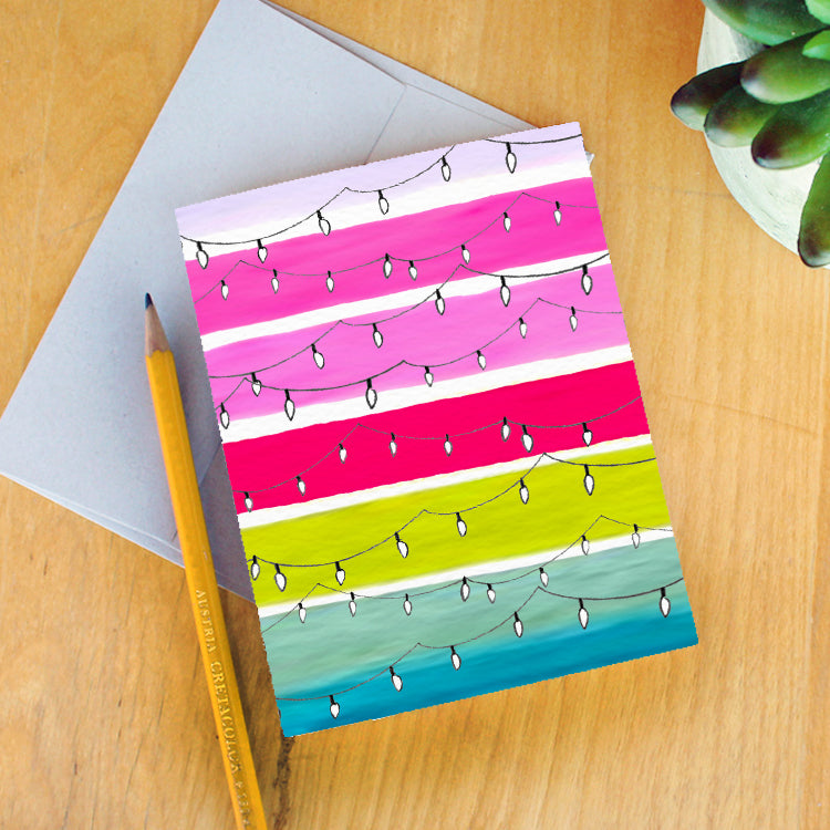 """Technicolor Lights"" Greeting Card"