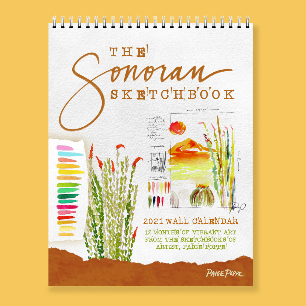 """The Sonoran Sketchbook"" 2021 Wall Calendar"