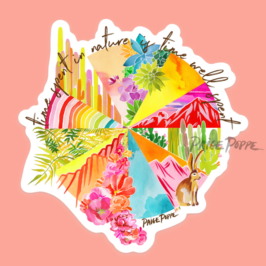 """Time Spent in Nature"" Sticker"