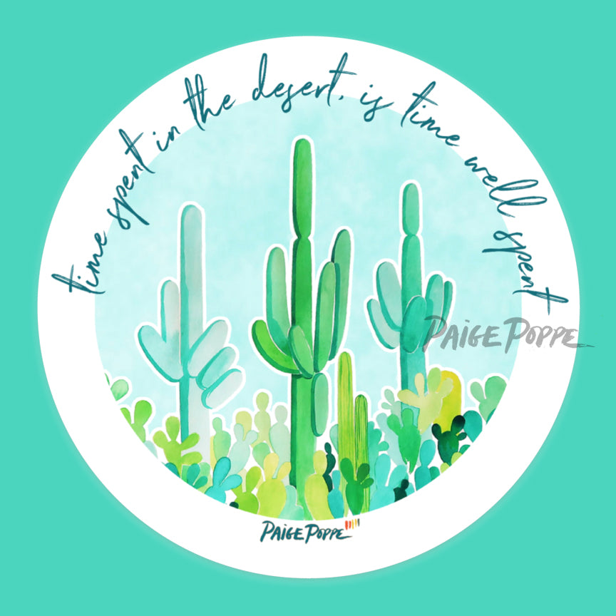 """Time Spent in the Desert"" Sticker"