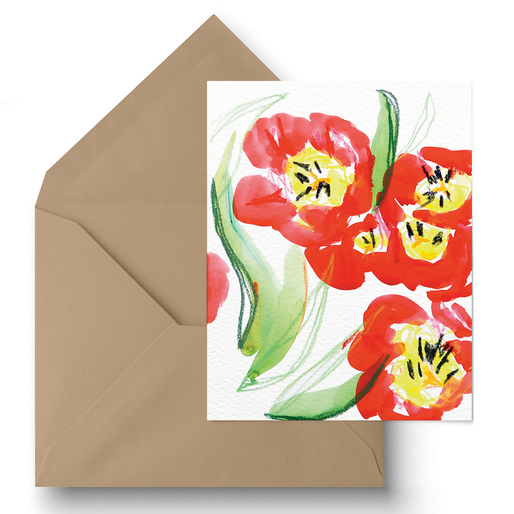"""Blooming Tulips"" Greeting Card"