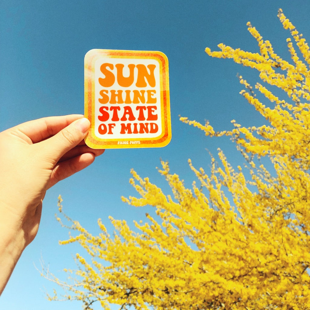 """Sunshine State of Mind"" Sticker"
