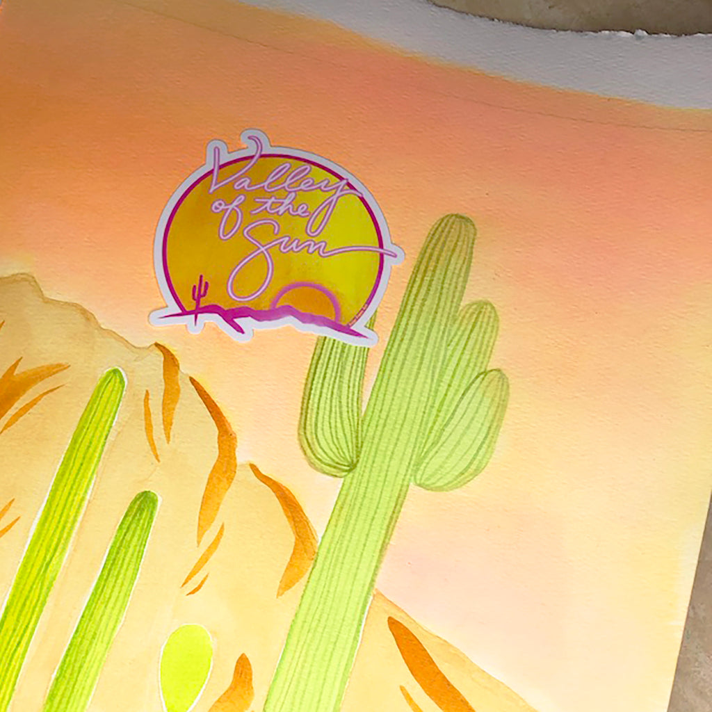 """Valley of the Sun"" Neon Sticker"