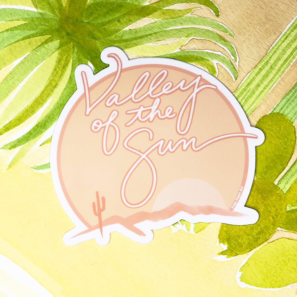 """Valley of the Sun"" Neutral Sticker"