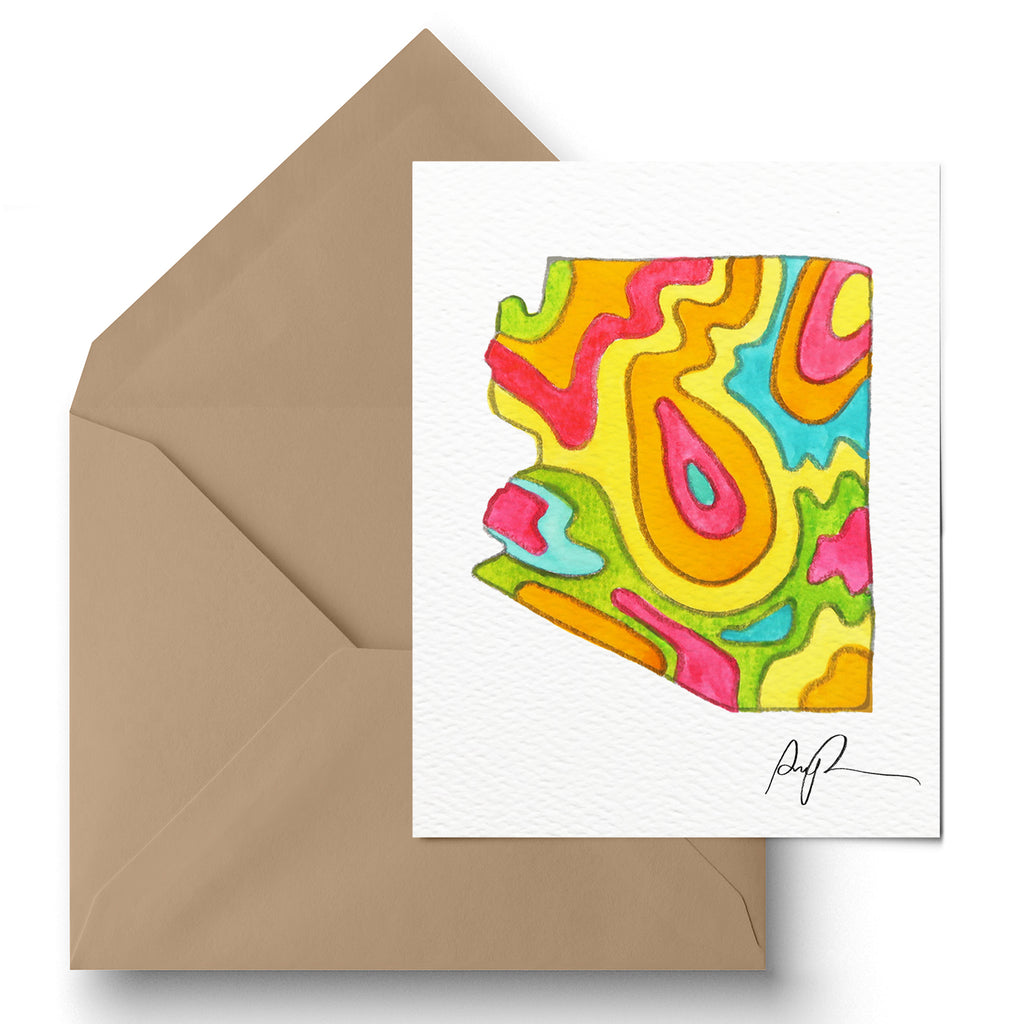 """Vibrant Arizona"" Greeting Card"