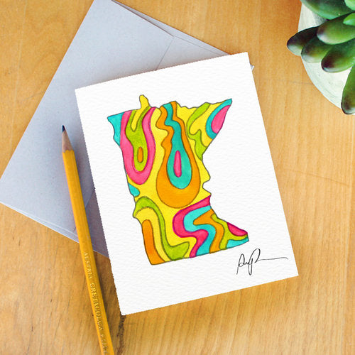 """Vibrant Minnesota"" Greeting Card"