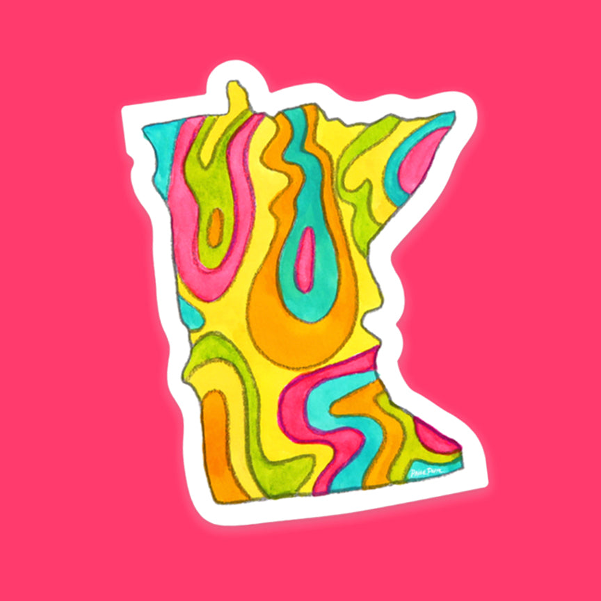 """Vibrant Minnesota"" Sticker"