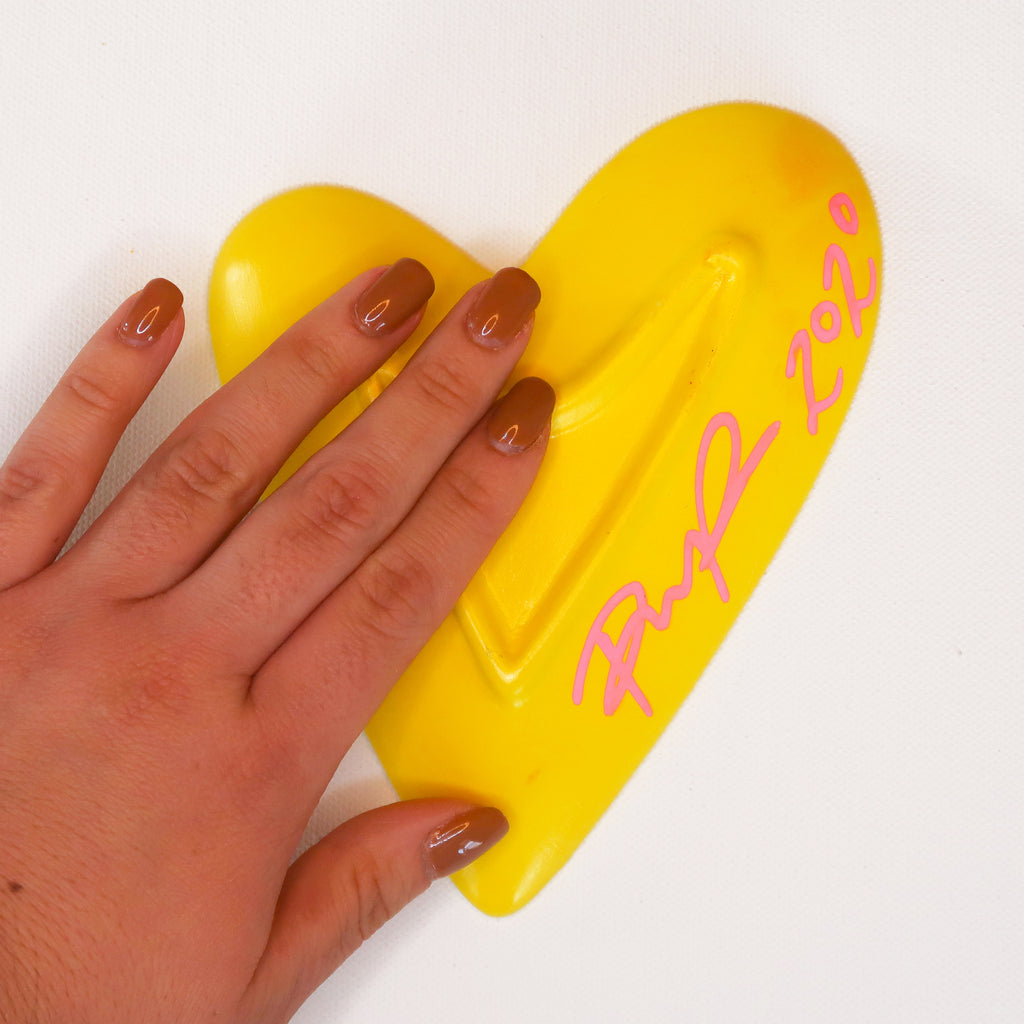 """Soaring in Sunshine"" Handpainted Ceramic Heart Dish"