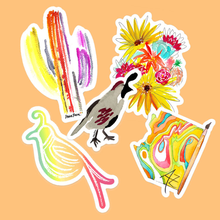 """Technicolor Saguaro"" Sticker"