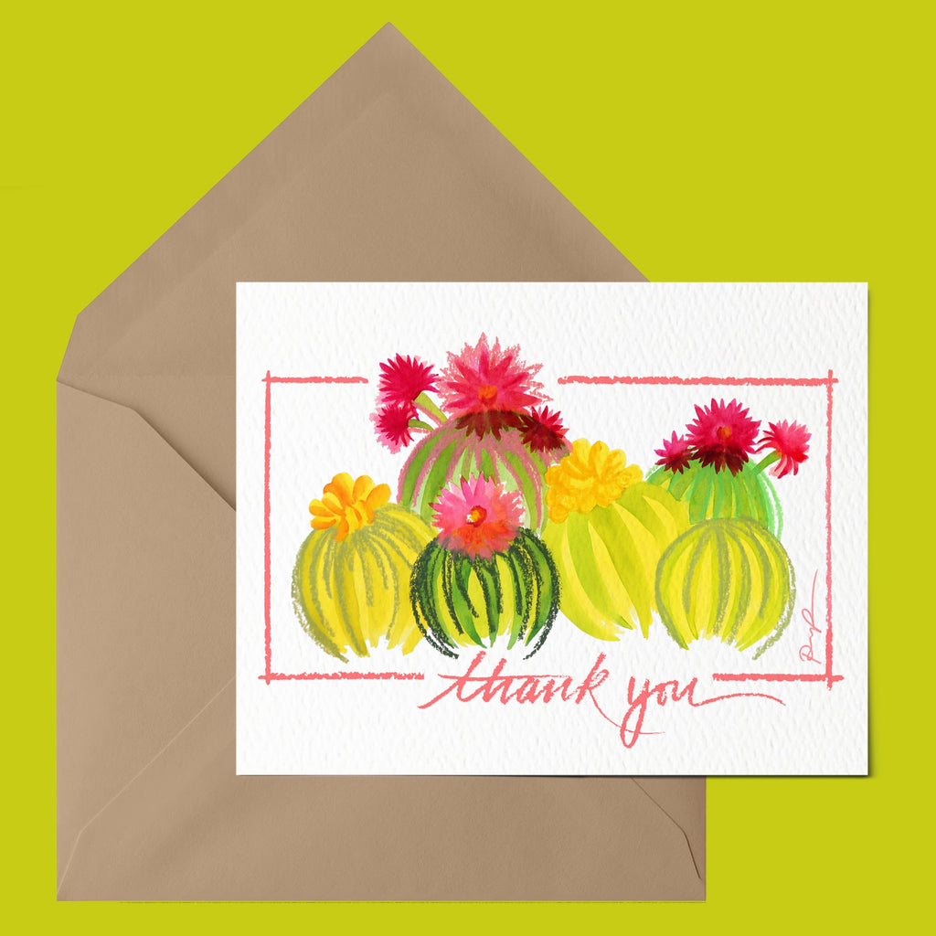 """Barrel Beauties"" Thank You Card"