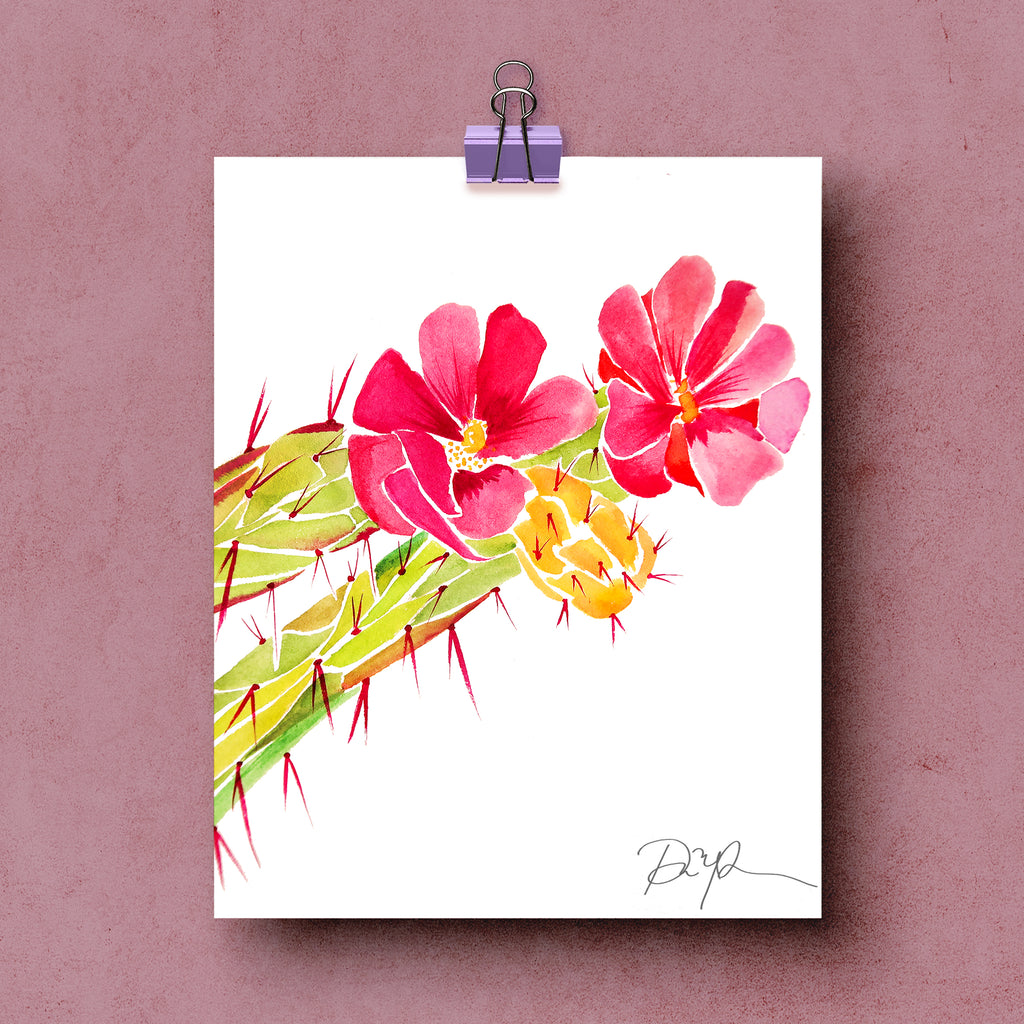 """Cholla Blooms"" Fine Art Print"