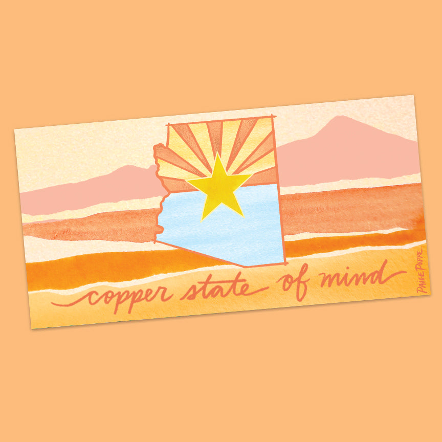 """Copper State of Mind"" Bumper Sticker"